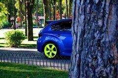 Subaru Impreza WRX STI Racecar Sportcar. Sport car Subaru Impreza WRX STI. Summer Stock Image
