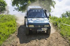 Subaru jeep in competition Stock Photography