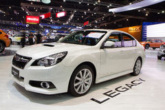 Subaru legat på expo för Thailand Internationalmotor Arkivfoton