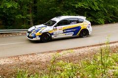 Subaru on Miskolc Rally Hungary. 2016 Stock Image