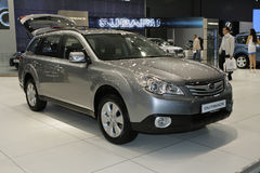 Subaru Outback. At the Moscow International Automobile Salon (MIAS-2010) August 25 - September 5 Royalty Free Stock Photo
