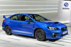 Subaru på Genève 2014 Motorshow Royaltyfri Bild