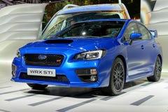Subaru przy 2014 Lemańskimi Motorshow Fotografia Stock
