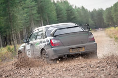 Subaru rally car Royalty Free Stock Photo