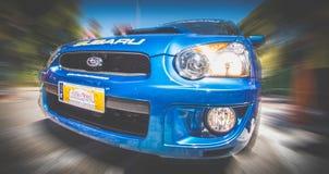 Subaru rally car Royalty Free Stock Images