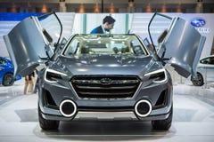 Subaru samochód przy Tajlandia zawody międzynarodowi silnika expo 2015 Obraz Royalty Free