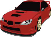 Subaru Sti. A Vector .eps illustration of a Subaru WRX STi sports sedan. Saved in layers for easy editing. See my portfolio for more automotive images vector illustration