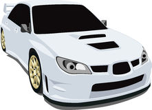 Subaru Sti. A Vector . eps illustration of a Subaru WRX STi sports car. Saved in layers for easy editing. See my portfolio for more automotive images royalty free illustration
