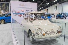 Subaru 360 su esposizione fotografia stock libera da diritti