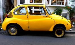 Subaru 360 Super Deluxe. Subaru`s first production car. Manufactured from 1958 to 1971. A rear-mounted 356cc two-cylinder engine. It was also exported to the US Stock Photos