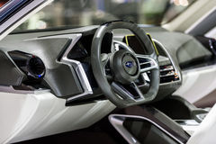 Subaru VIZIV2概念汽车里面控制台  免版税库存图片