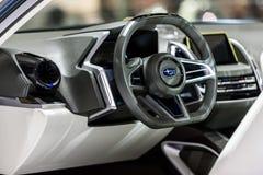 Subaru VIZIV2概念汽车里面控制台  库存照片