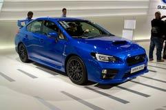 Subaru WRX日内瓦2014年 免版税库存照片
