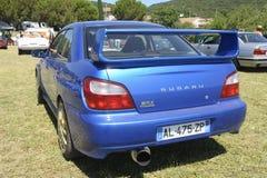 Μπλε Subaru WRX Στοκ φωτογραφίες με δικαίωμα ελεύθερης χρήσης