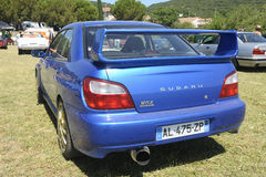 Subaru WRX błękit Zdjęcia Royalty Free