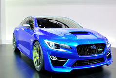 Subaru WRX Concept on IAA 2013 Stock Photo