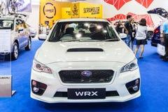 Subaru WRX on display Stock Images