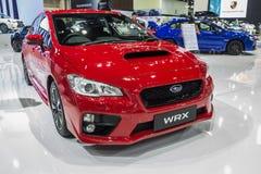 Subaru WRX pokazywał w Tajlandia 37th Bangkok zawody międzynarodowi Mot Zdjęcia Royalty Free