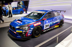 Subaru WRX Race Car Geneva 2014 Royalty Free Stock Photos