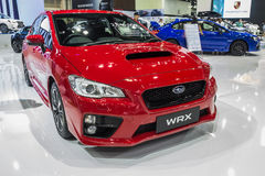 Subaru WRX showed in Thailand the 37th Bangkok International Mot Royalty Free Stock Photos