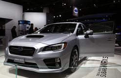 Subaru WRX STI at the auto show Royalty Free Stock Image
