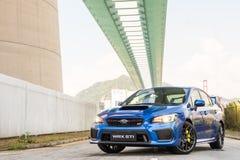 Subaru WRX STI 2017 testa Prowadnikowy dzień fotografia stock