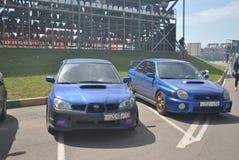 Subaru wrx sti toczy strojeniowego samochód wyścigowego, drif, rds Fotografia Royalty Free