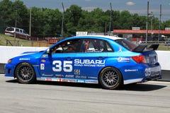 Subaru WRX-STI on the track Stock Photography
