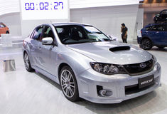 Subaru WRX STV op de Internationale Motor Expo van Thailand Royalty-vrije Stock Foto's
