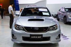 Subaru WRX STV på expo för Thailand Internationalmotor Royaltyfri Fotografi