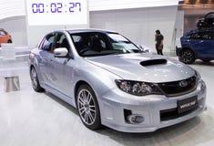 Subaru WRX STV på expo för Thailand Internationalmotor Royaltyfria Foton