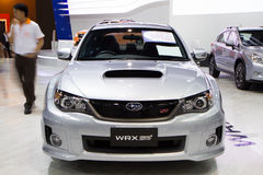 Subaru WRX STV On Thailand International Motor Expo Royalty Free Stock Image