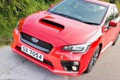Subaru WRX 2014 test drive Stock Photography