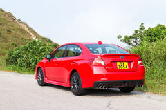 Subaru WRX 2014 test drive Royalty Free Stock Photos