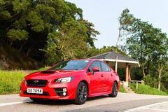 Subaru WRX 2014 test drive Stock Image