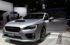 Subaru WRX WTI an der Automobilausstellung Lizenzfreies Stockbild