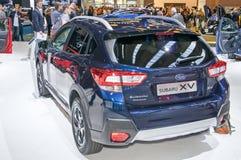 Subaru XV. Frankfurt-September 20:  Subaru SV at the Frankfurt International Motor Show on September 20, 2017 in Frankfurt Stock Photos