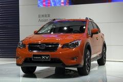 Subaru XV Limousine Asien-Premiere im Guangzhou-Erscheinen Stockfotografie