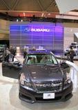Subaru-Zeichen und neues Modell Lizenzfreies Stockfoto