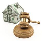 Subasta de las propiedades inmobiliarias imagen de archivo