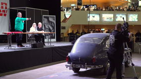 Subasta de los coches del vintage y del coleccionable almacen de video
