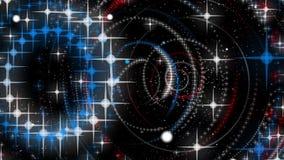Subatomare Welt in einer futuristischen Animation vektor abbildung