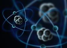 subatomic partikel royaltyfri illustrationer