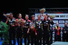 Subcampeón 2017 del ` s Team European de la muchacha de Alemania Fotografía de archivo