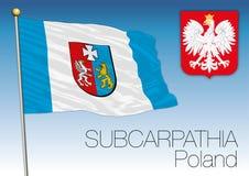Subcarpathia regional flag, Poland Stock Photos
