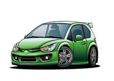 Subcompact Car 02 Stock Photo