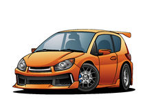 Subcompact Car 04. A non-branded generic Subcompact Car from the early 2014s models Royalty Free Stock Photos