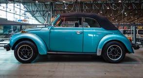 Subcompactauto Volkswagen Beetle Cabrio, 1973 Royalty-vrije Stock Afbeeldingen