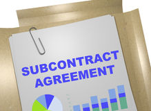 Subcontract Agreement - business concept Royalty Free Stock Image