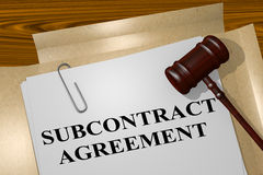 Subcontract Agreement - legal concept Stock Photography